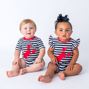 Wholesale Lobster Applique Baby Romper