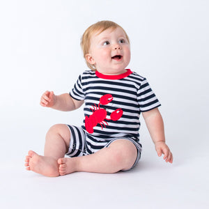 Applique Lobster Boy's Romper