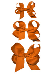 Orange large hairbow for Girls