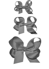 Girls grey hairbows