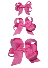 girls pink hairbows