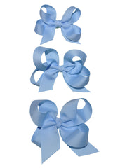 girls light blue hair bows