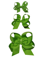 girls green hairbows