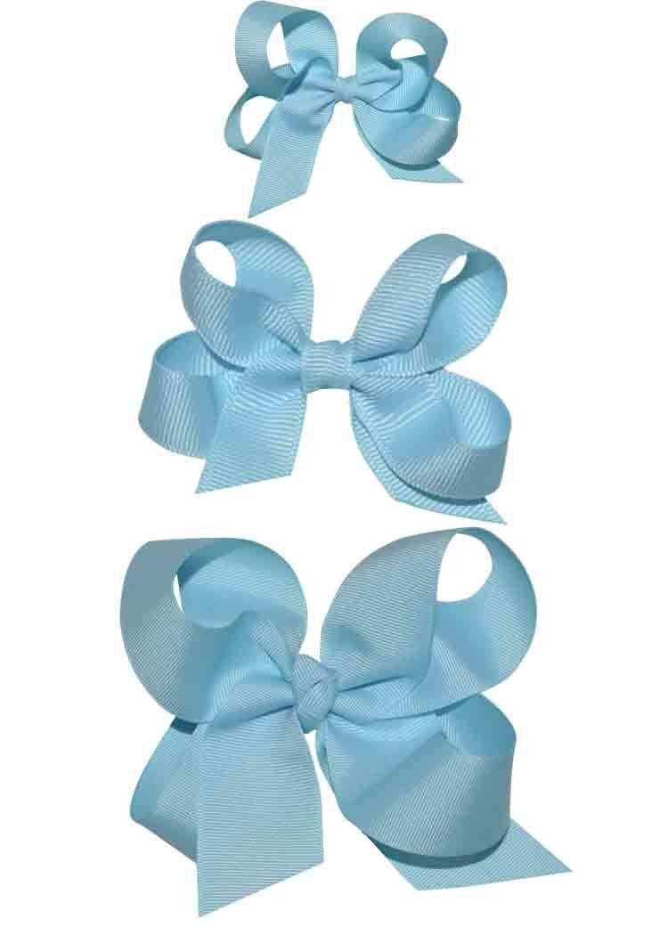 Girls turquoise hairbows