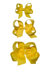 Yellow Girl's Hairbow - Small, Medium & Large Hairbows