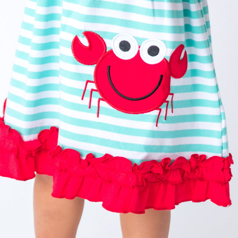 Red Applique Lobster Kids Clothes
