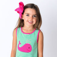 Pink Applique Whale Girl's Short Set