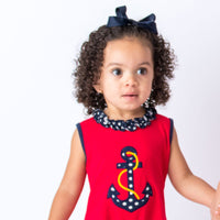 Anchor Applique Girl's Bubble