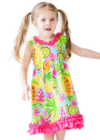Girl's Tutti Frutti Knit Sundress