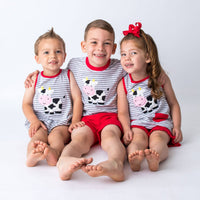 Applique Cow Children's Clothes