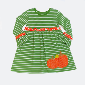 Applique Pumpkins Girl's Dress