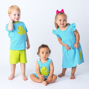 Applique Frog Matching Sibling Clothing