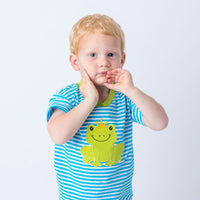 Green Applique Boys Short Set