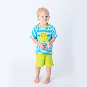 Applique Frog Boy's Short Set