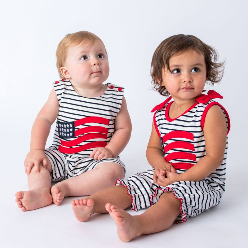 American Flag Girls and Boys Romper