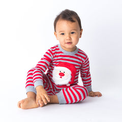 Baby Loungewear Wholesale with Applique Santa