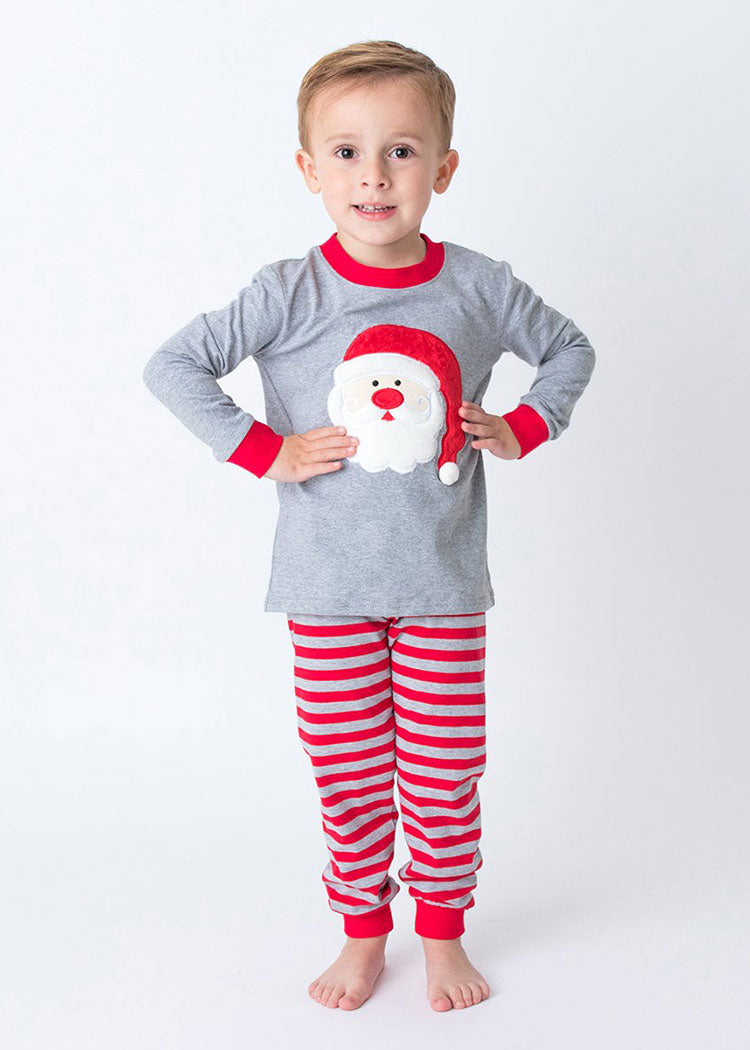 Applique Santa 2 Piece Christmas Loungewear