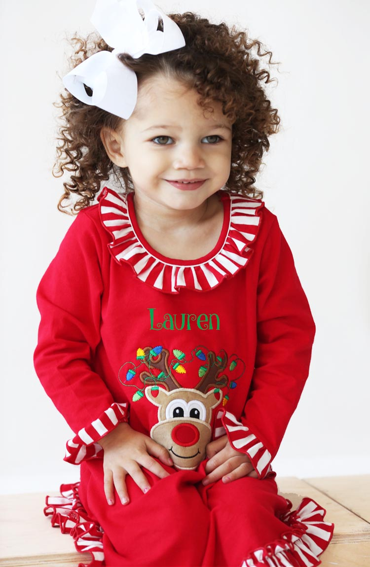 Personalized Christmas Girl's Pajama