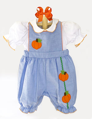 Applique Pumpkins Baby Bubble