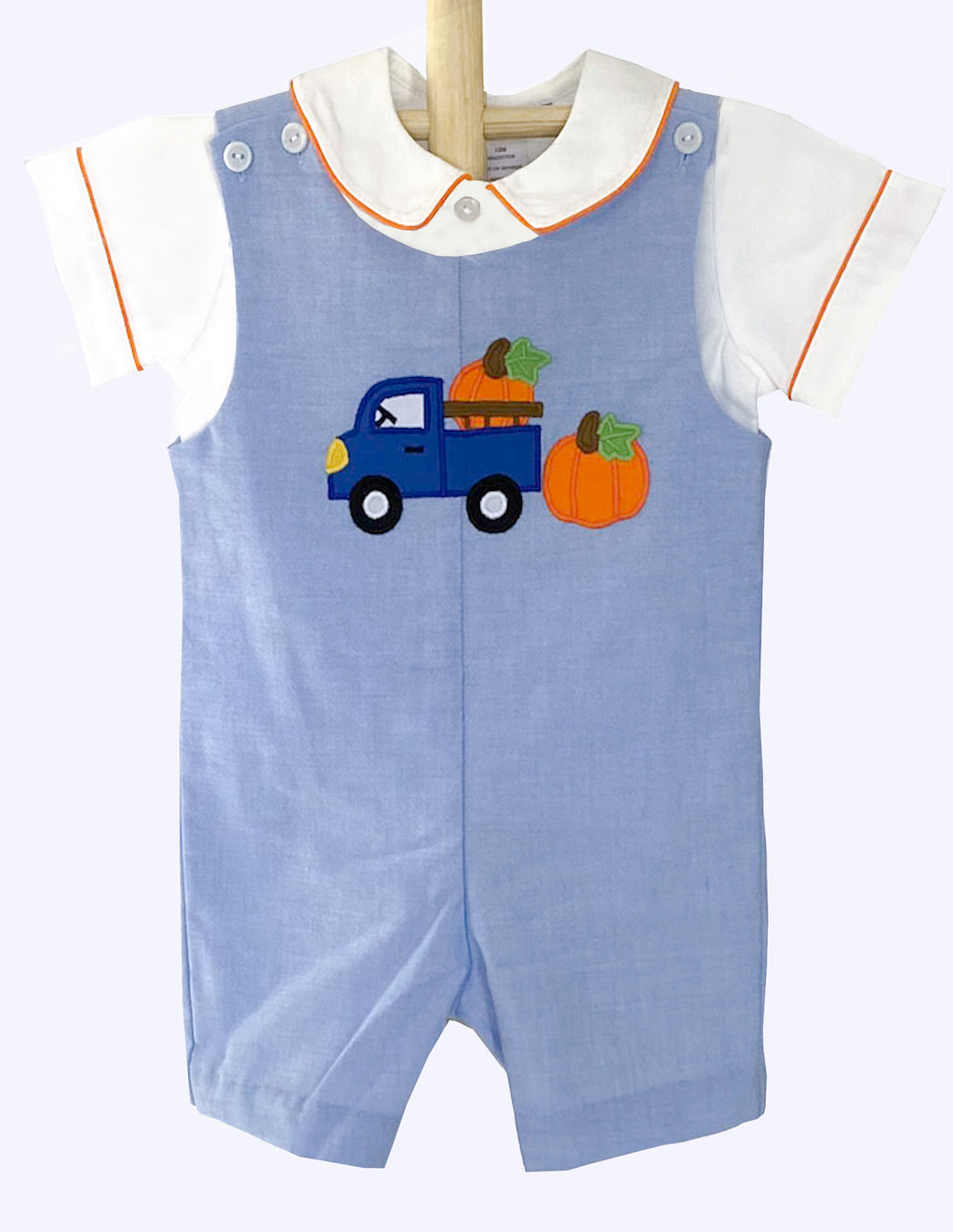 Applique Truck Boy's Shortall