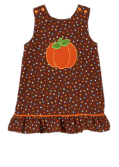 Applique Pumpkin A Line Dress