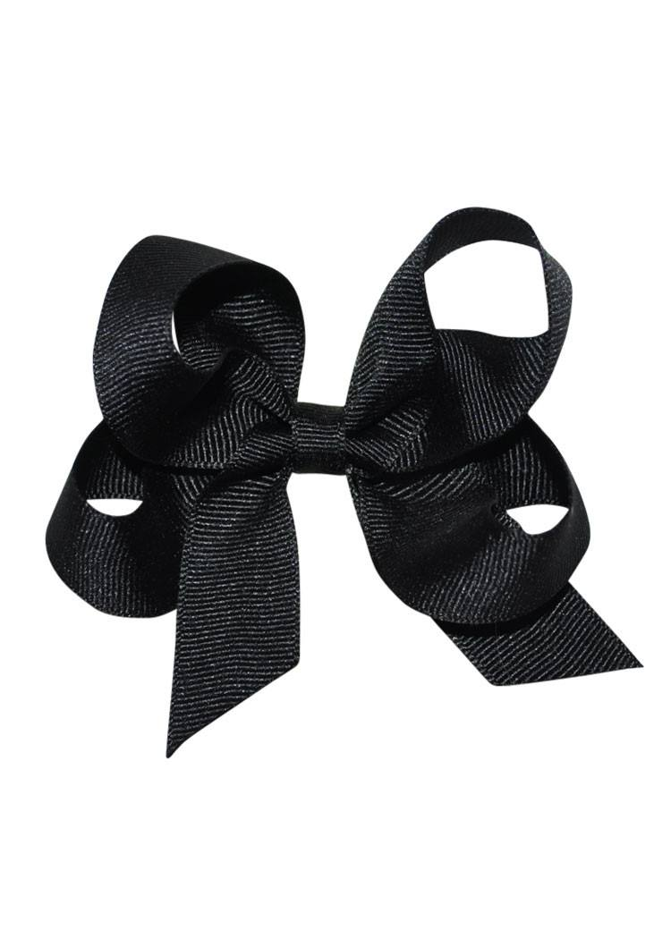 Black Medium Hairbow Boutique Style