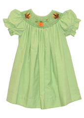 Girls Hand Smocked Thanksgiving bishop dress