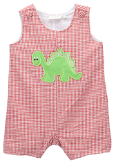 Applique Dinosaur Boy's Shortall