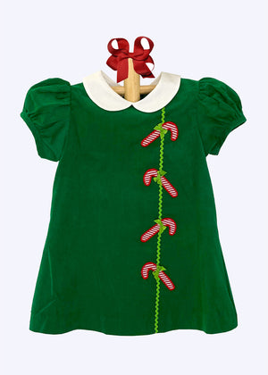 Applique Candy Canes Girl's Dress