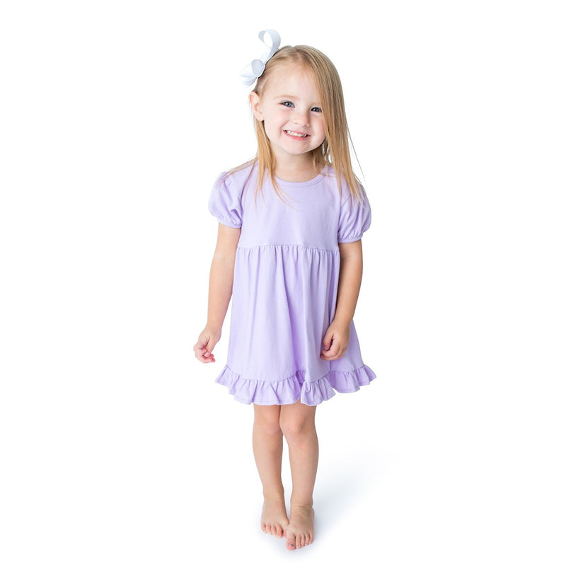 Lavender Blank Girl's Dress