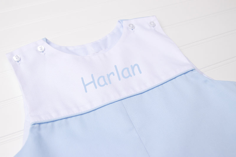 Personalized Light Blue Shortall