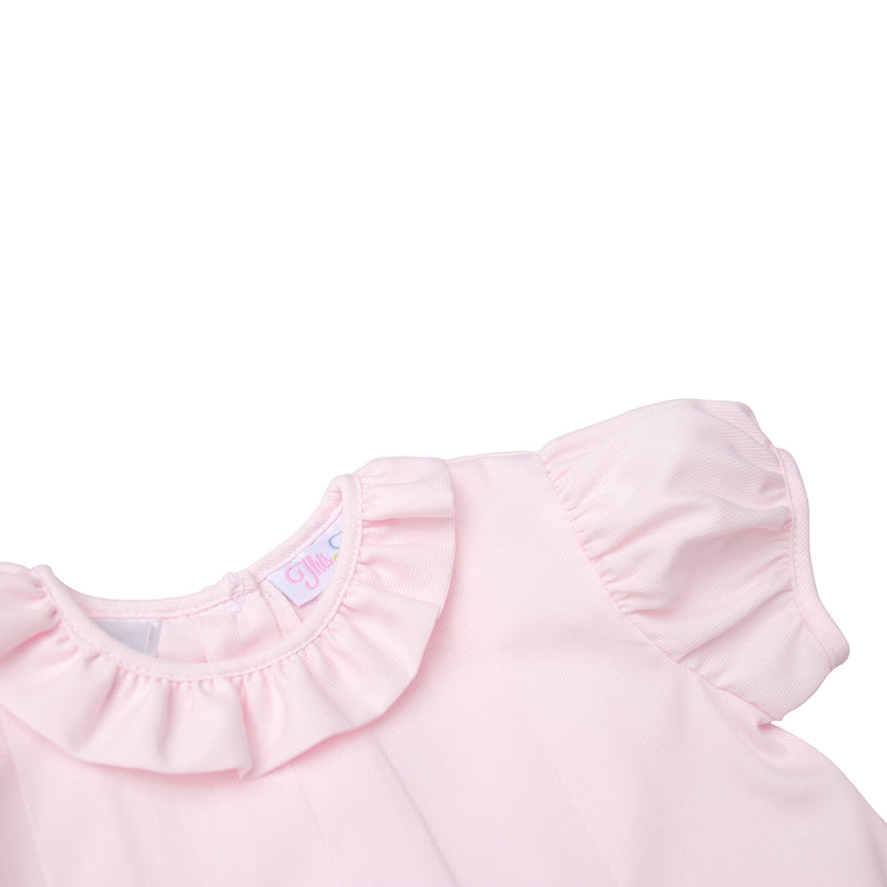 Ruffle Collar Girl's Pink Dress