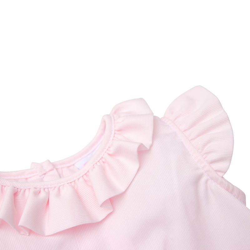 Ruffle Collar in a Baby Girl Bloomer Set