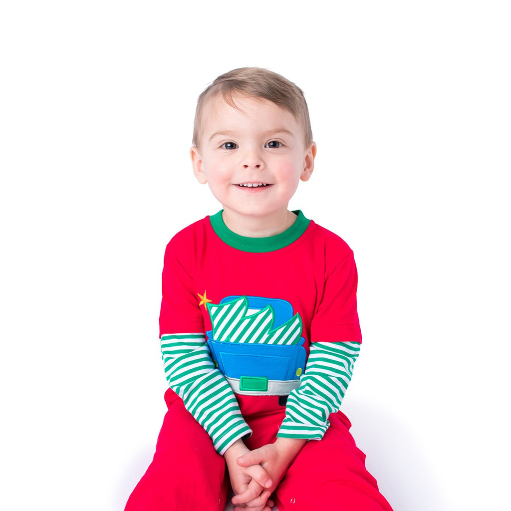Christmas Tree Applique Boy's Outfit