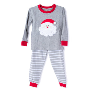 Christmas Unisex Pajama with Applique Santa