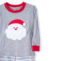 Christmas Pajama with Detailed Applique Santa's Face
