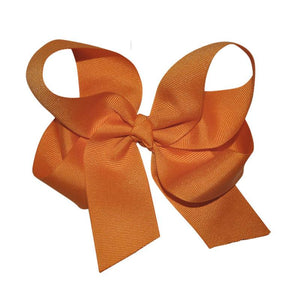 Orange Large Hairbow Boutique Style