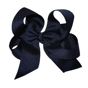 Navy Large Hairbow Boutique Style