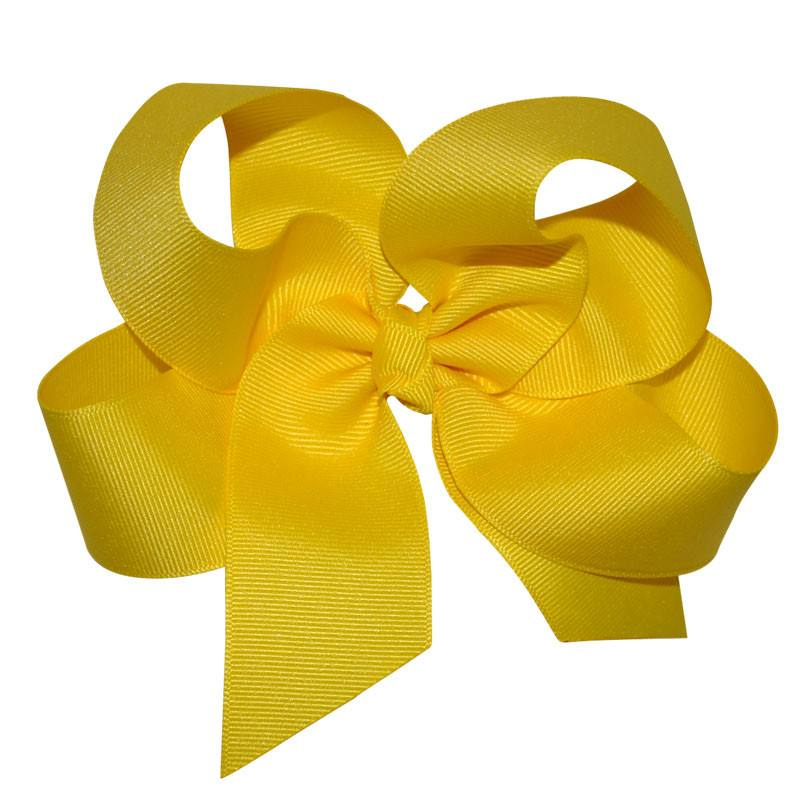 Yellow Large Hairbow Boutique Style