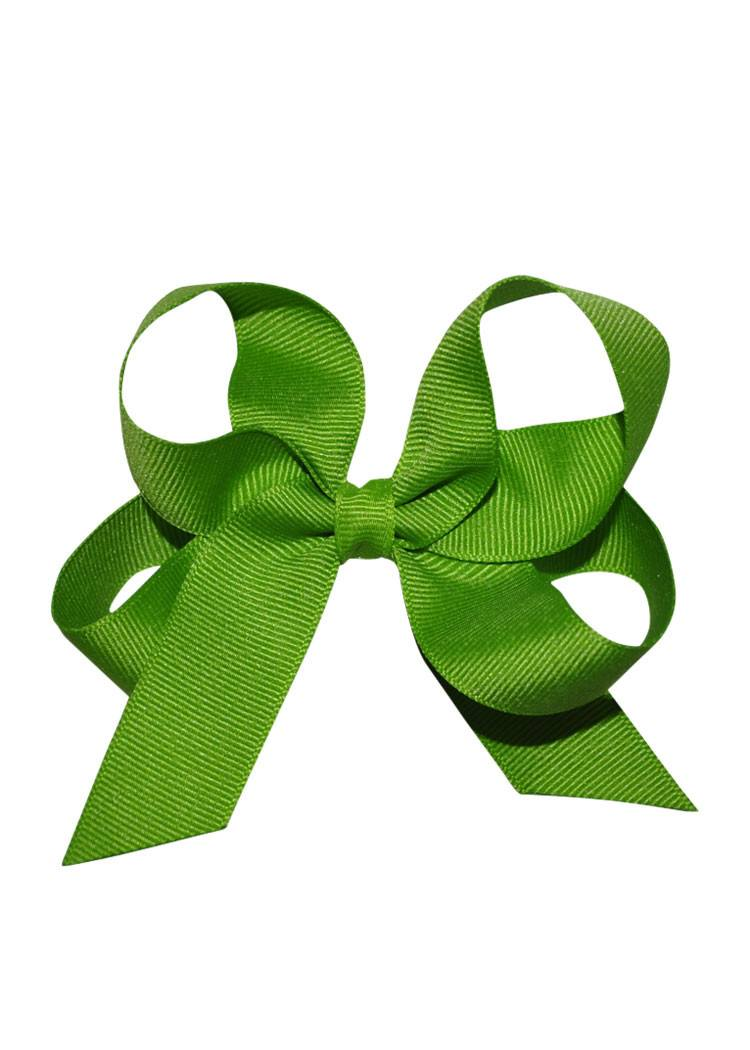 Lime Green Medium Hairbow Boutique Style