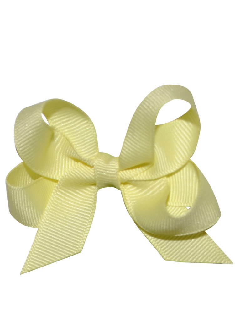 Boutique Hairbow Small Light Yellow