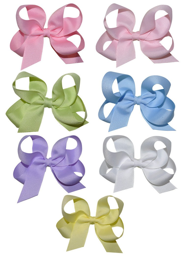 Beautiful Pastel Colors Hairbows in Medium Size