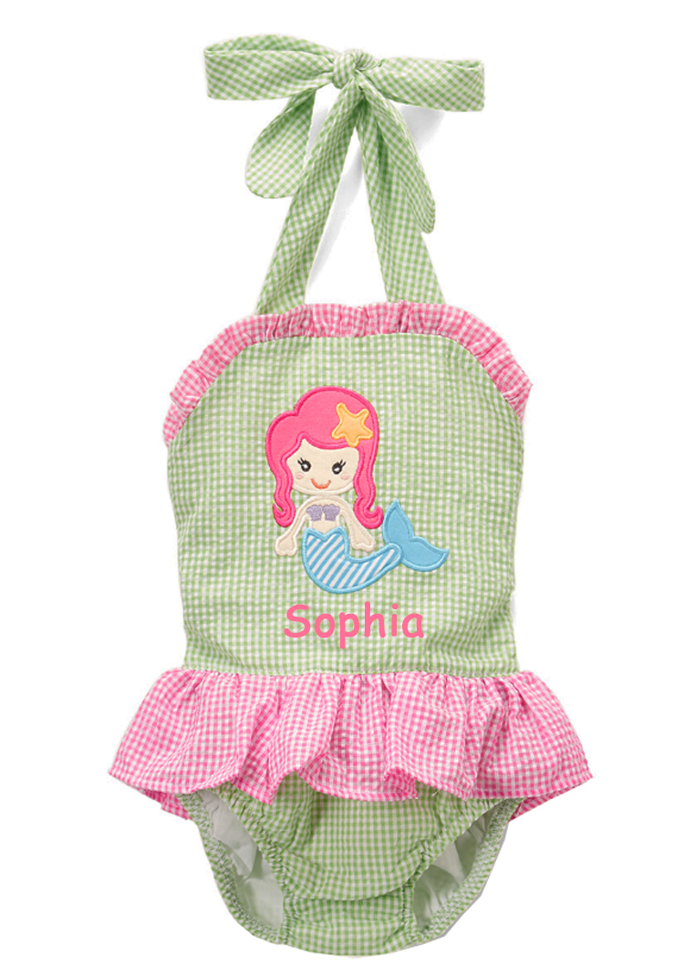 Applique Mermaid Girl