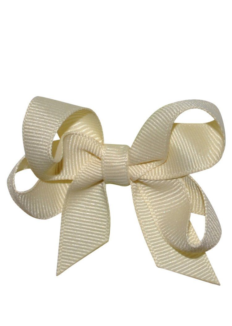 Boutique Hairbow Small Beige