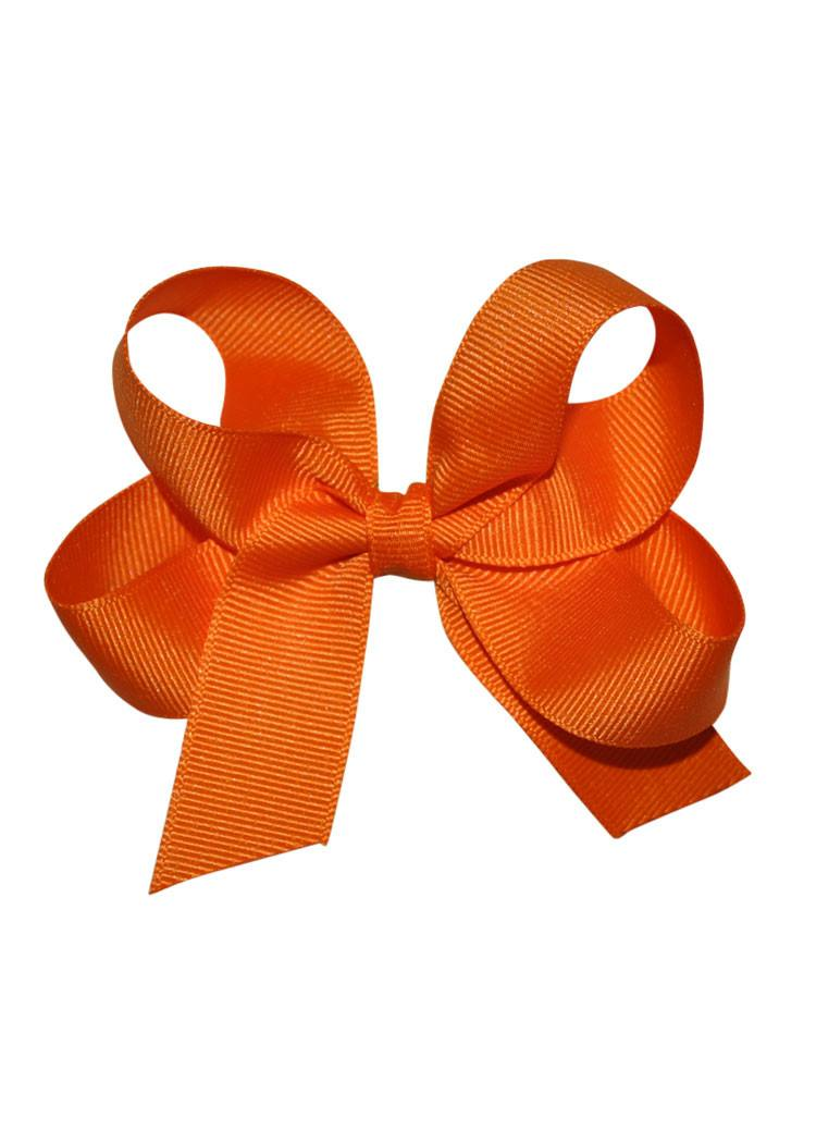Orange Medium Hairbow Boutique Style