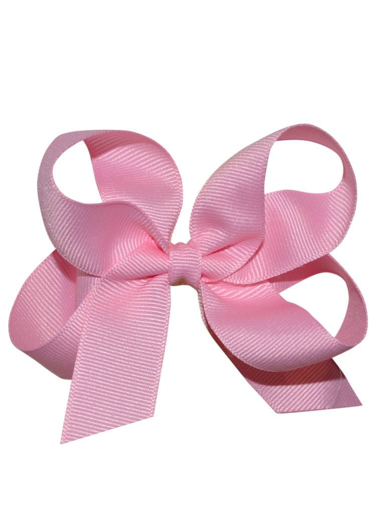 Pink Hairbow - Gross Grain Medium