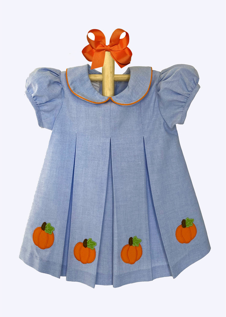 Girls Applique Pumpkin Dress