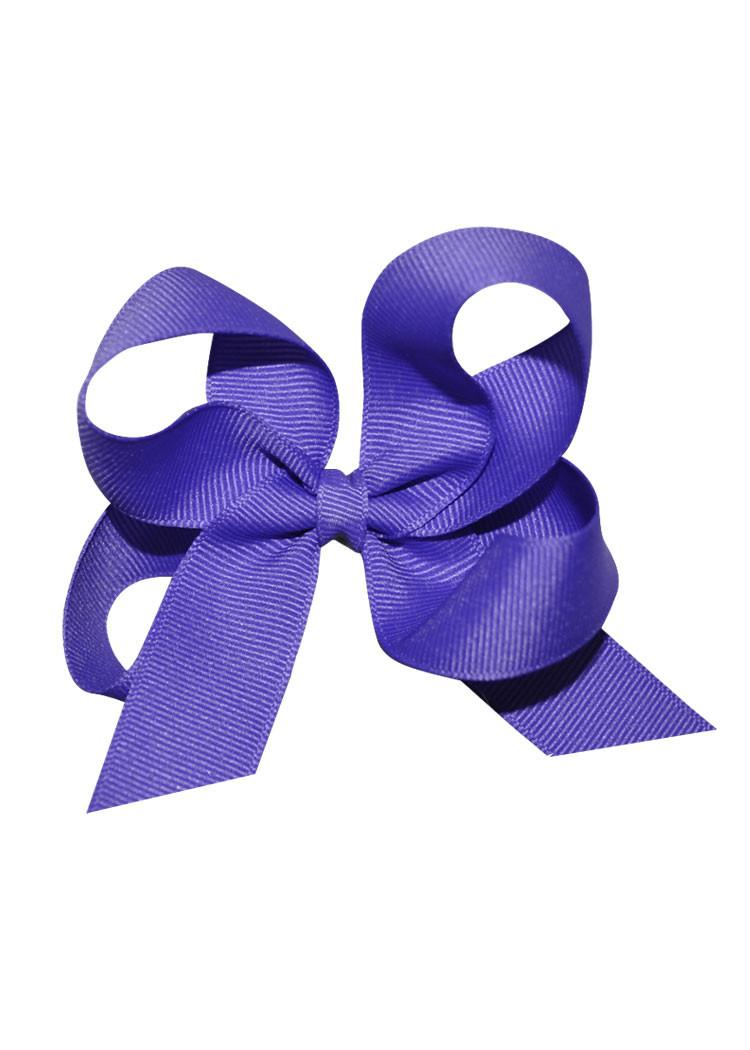 Purple Medium Hairbow Boutique Style