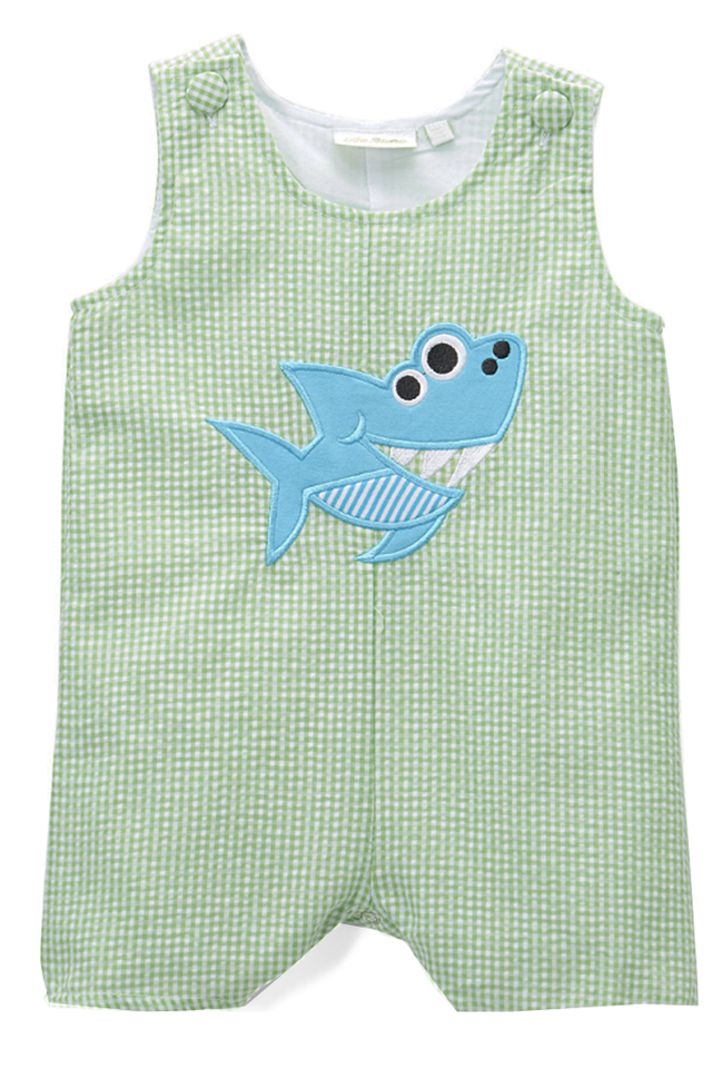 Applique Shark Boy's Shortall