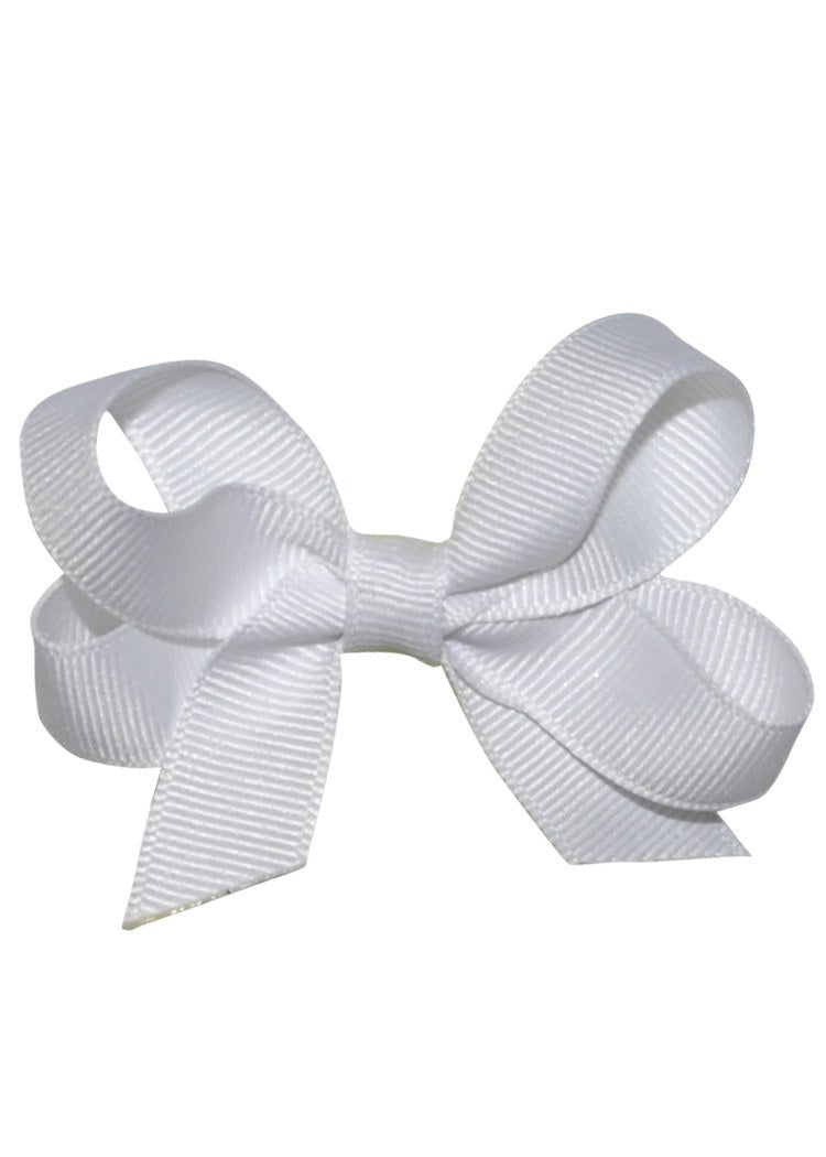 Boutique Hairbow Small White